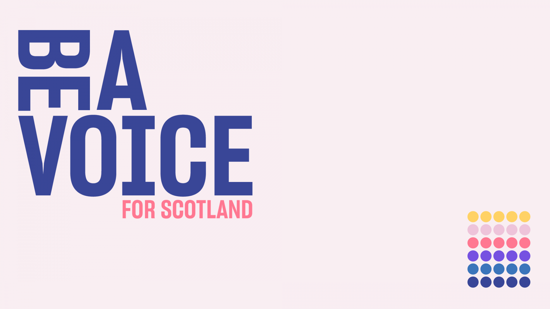Poster for Be A Voice Campaign